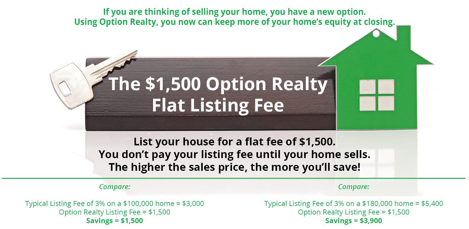 1500 flat listing fee